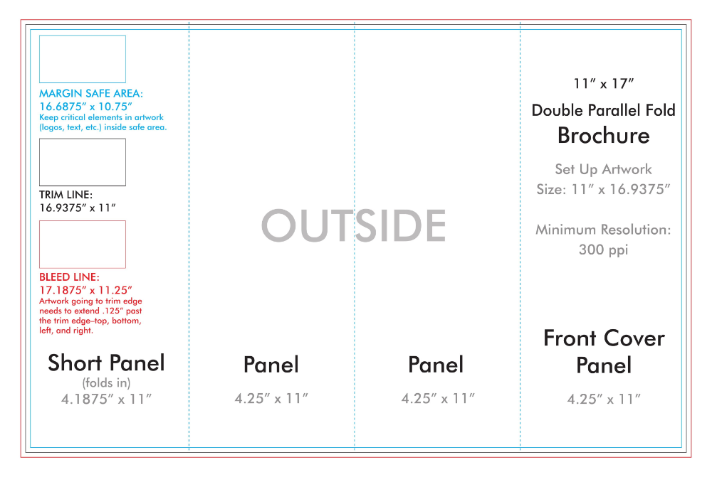 Four Panel Brochure Template from i.pinimg.com