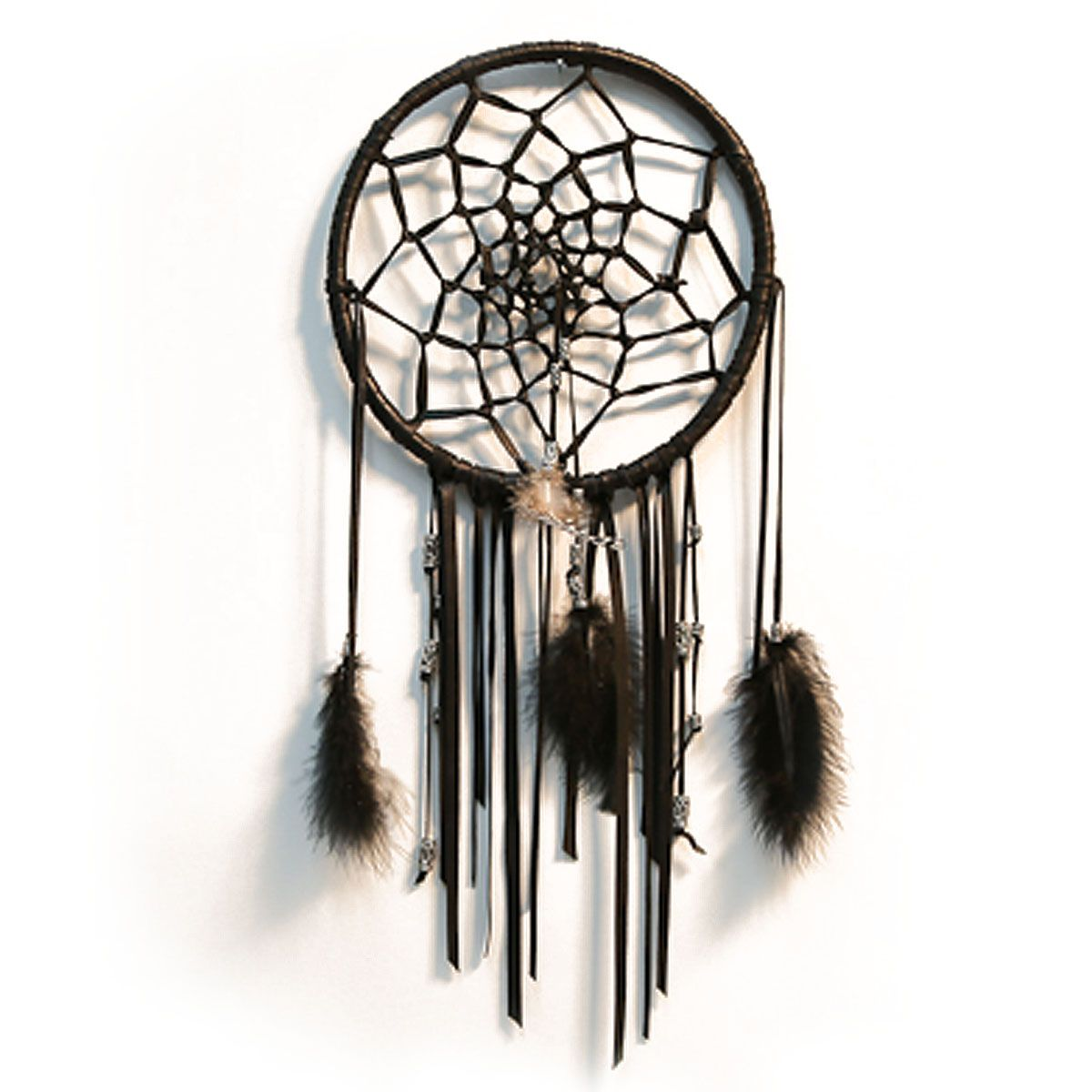 From my living room greenpoint works acapulco chair in leather meets - Black Leather Dreamcatcher Silver Beads Feathers Made At Line Label In Greenpoint Brooklyn