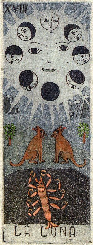 The Moon Tarot, Tarot Cards
