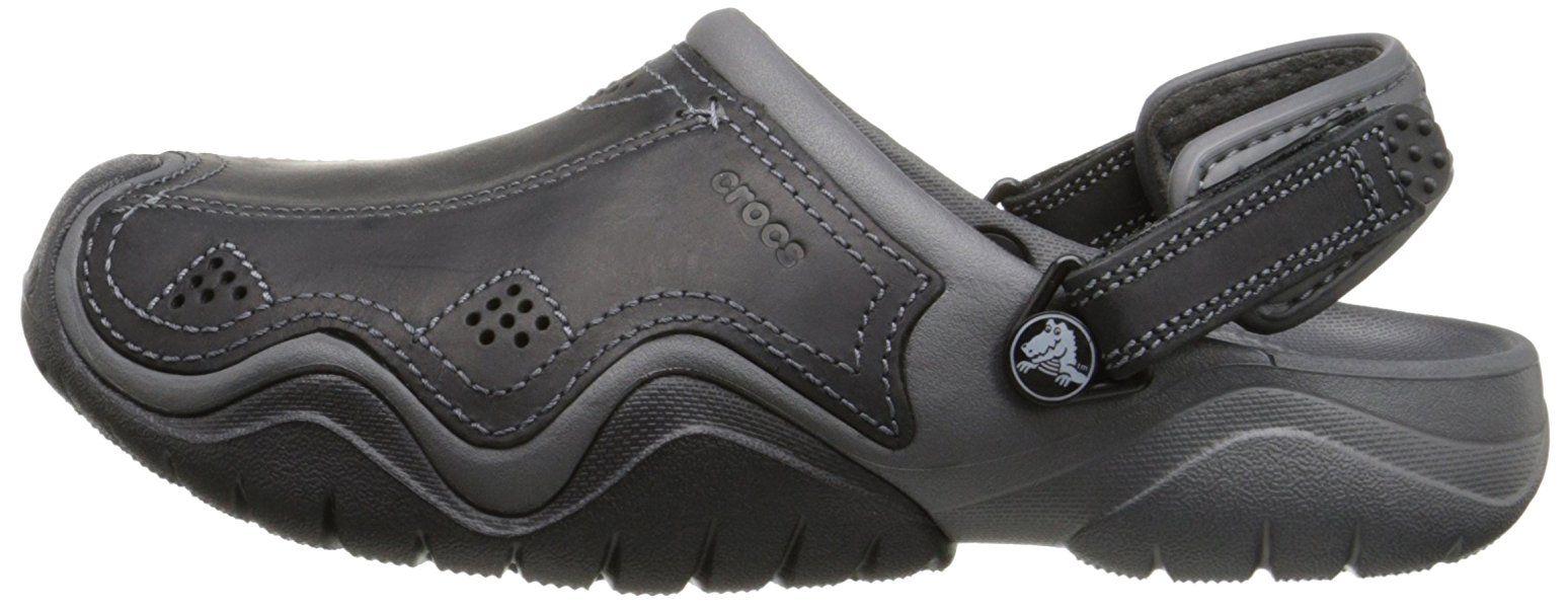 b80cb4ec41078 Crocs Men's Swiftwater Leather Clog, Graphite/Black, 6 UK (39-40 EU):  Amazon.co.uk: Shoes & Bags