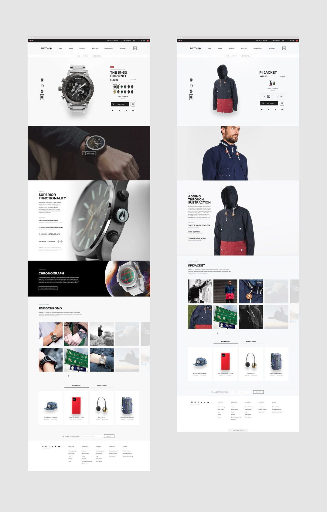 Nixon Ecommerce And Web Design Basic Ecommerce Web Design Ecommerce Web Web Layout Design