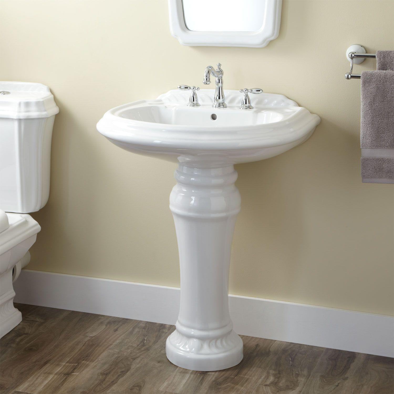 pedestal sink or vanity in small bathroom%0A Julian Pedestal Sink