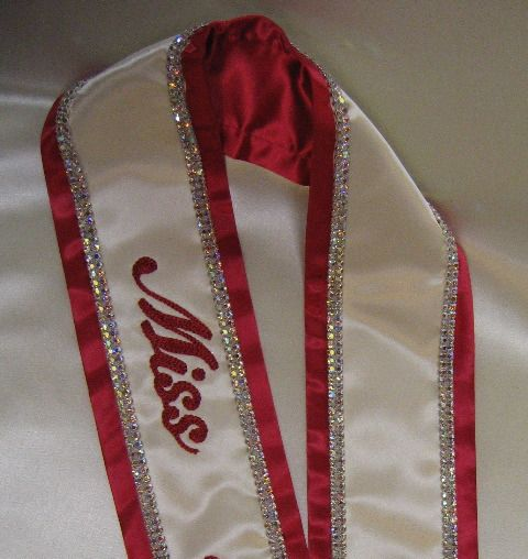 Pageant Sashes Embroidered Sashes Gt All About The
