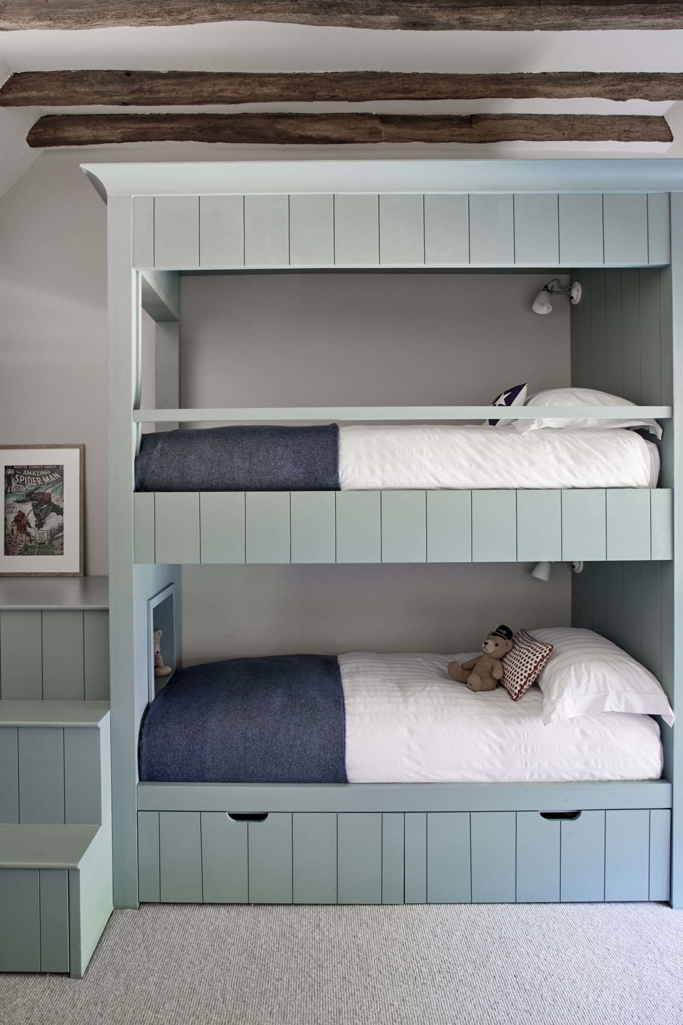 House Tour Sims Hilditch Designed Surrey Lake House Design Chic In 2021 Bunk Bed Designs Lake House Interior Bunk Beds