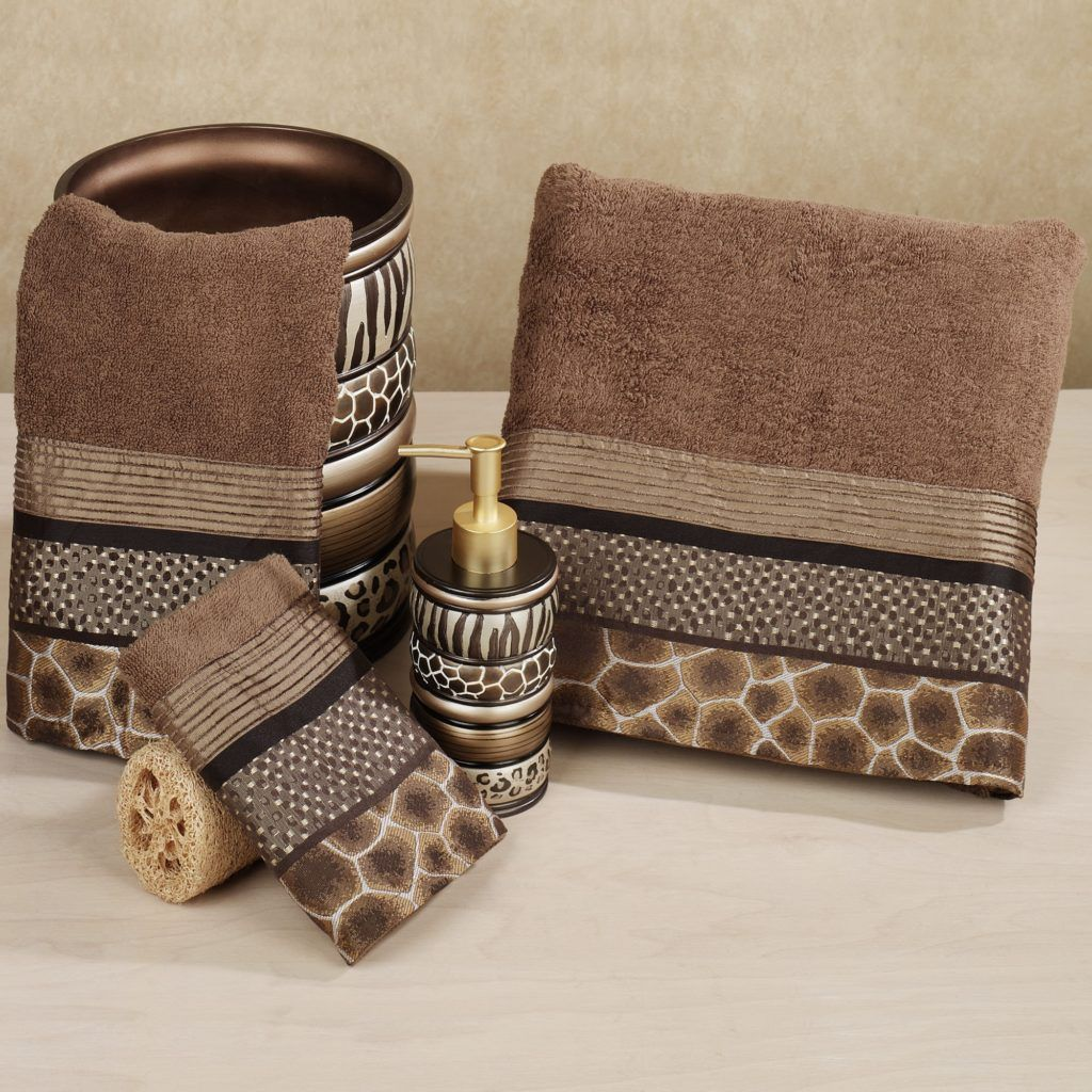 Animal Print Bathroom Rug Cm Sets