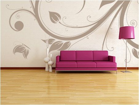 Fabulously Stunning Flower Wall Stencil Ideas For Painting Home