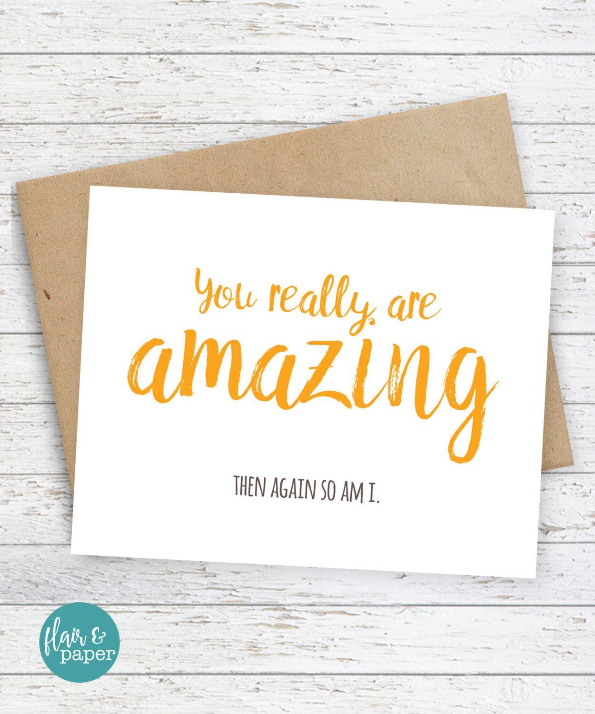 I Love You Card Boyfriend Card Awkward Card Snarky Card: Funny Card / I Love You Card / Snarky Greeting Card