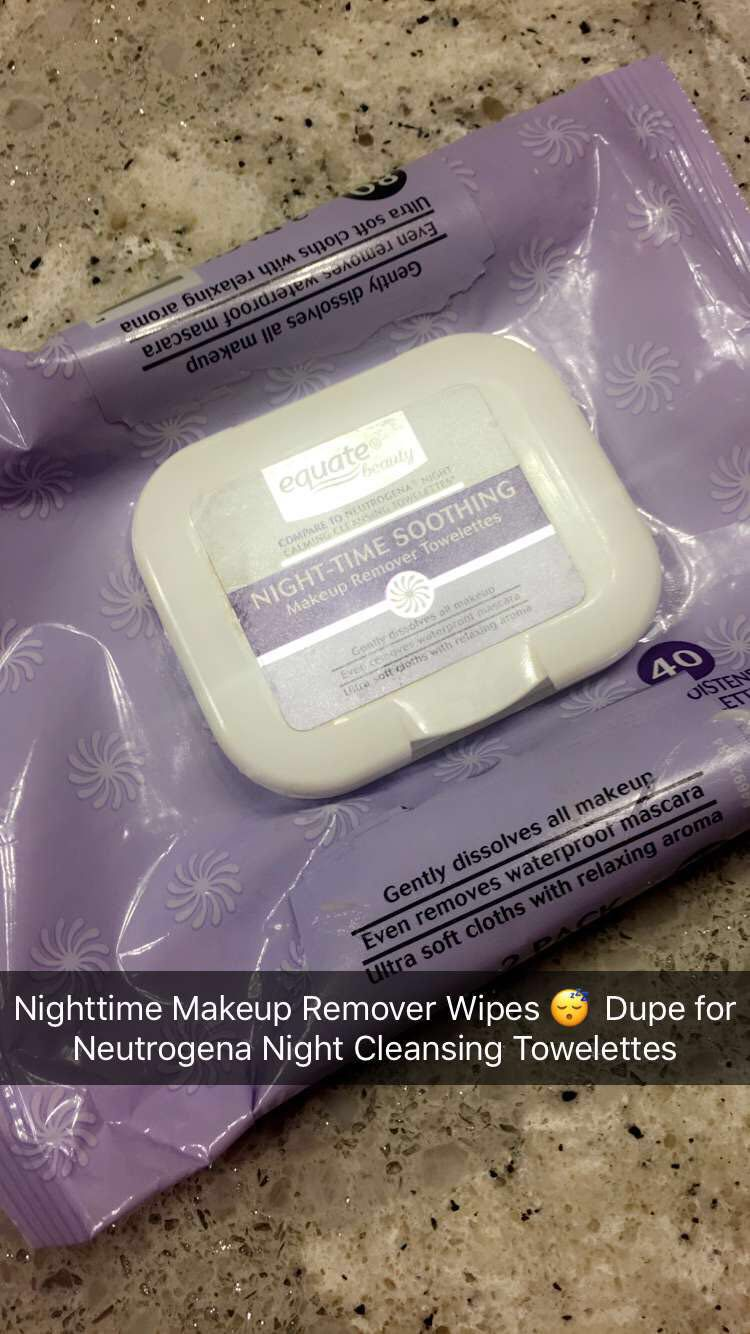 Equate Nighttime Soothing Makeup Wipes Follow CindyLBB