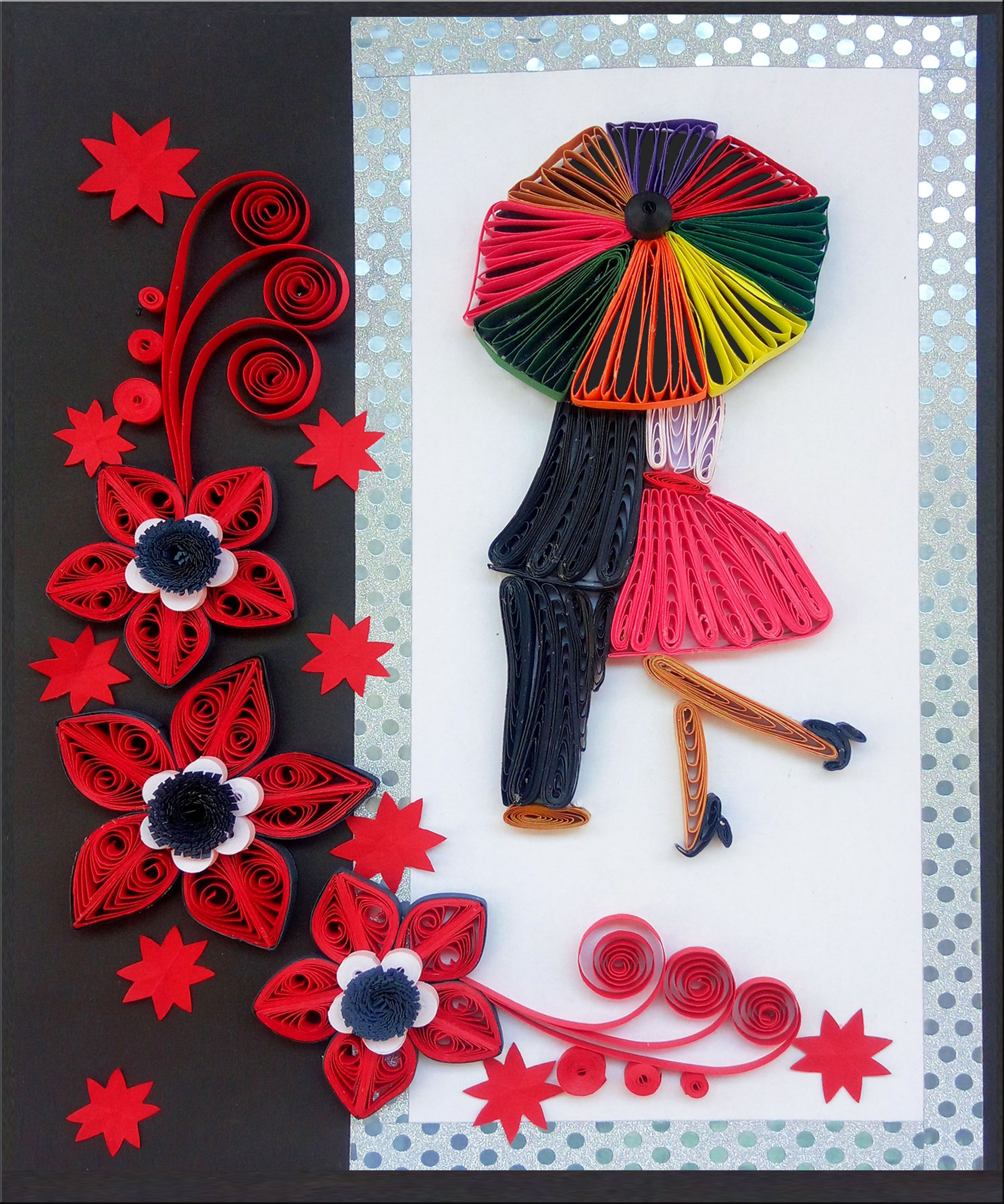 Paper Art Quilled Love Card Valentine S Day Greeting Card