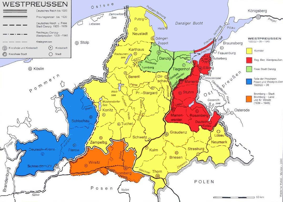 karte deutschland 1920 Provinz Westpreußen bis 1920 (West Prussia around 1920) (Waldemar
