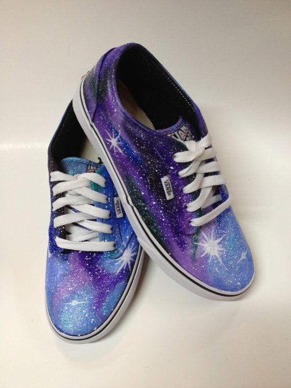 a2355dce27d0 Womens VANS Painted Galaxy Shoes Purple Custom Nebula Stars Night - Size 5  5.5 6 6.5 7 7.5 8 8.5 9 9.5 10 10.5 11 11.5 12 12.5 13 13.5 14
