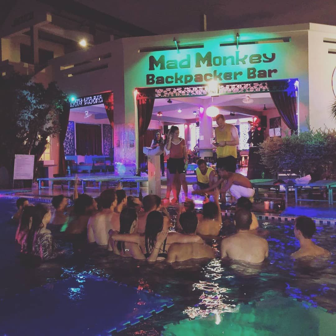 Saturday's midnight pool party! . . . . . .