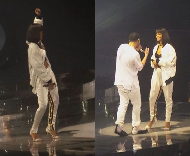 Rihanna performed with Drake in Paris wearing Alexandre Vauthier Spring Summer 2014