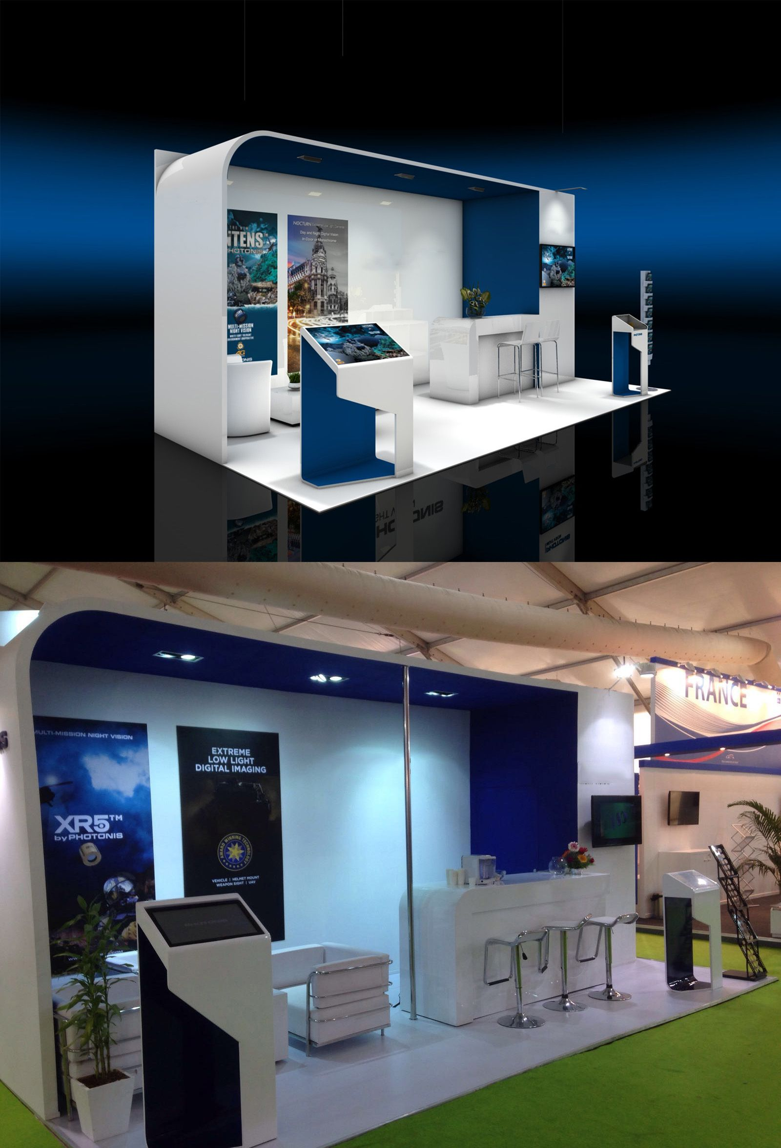 Exhibition Booth Building : Exhibition stand design and booth from the inside