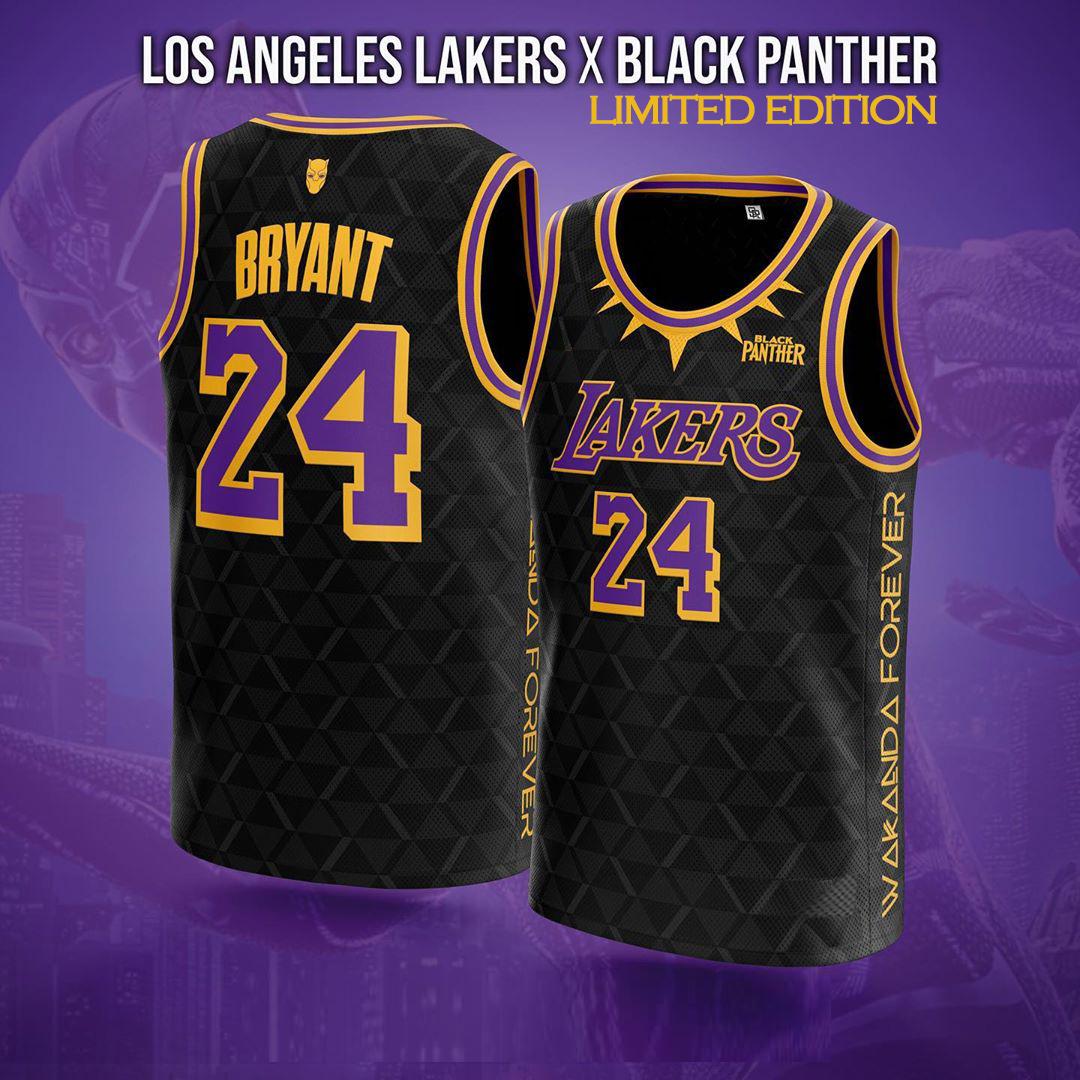 Chadwick Boseman/Black Panther/Kobe #24 Limited Edition Jersey ...