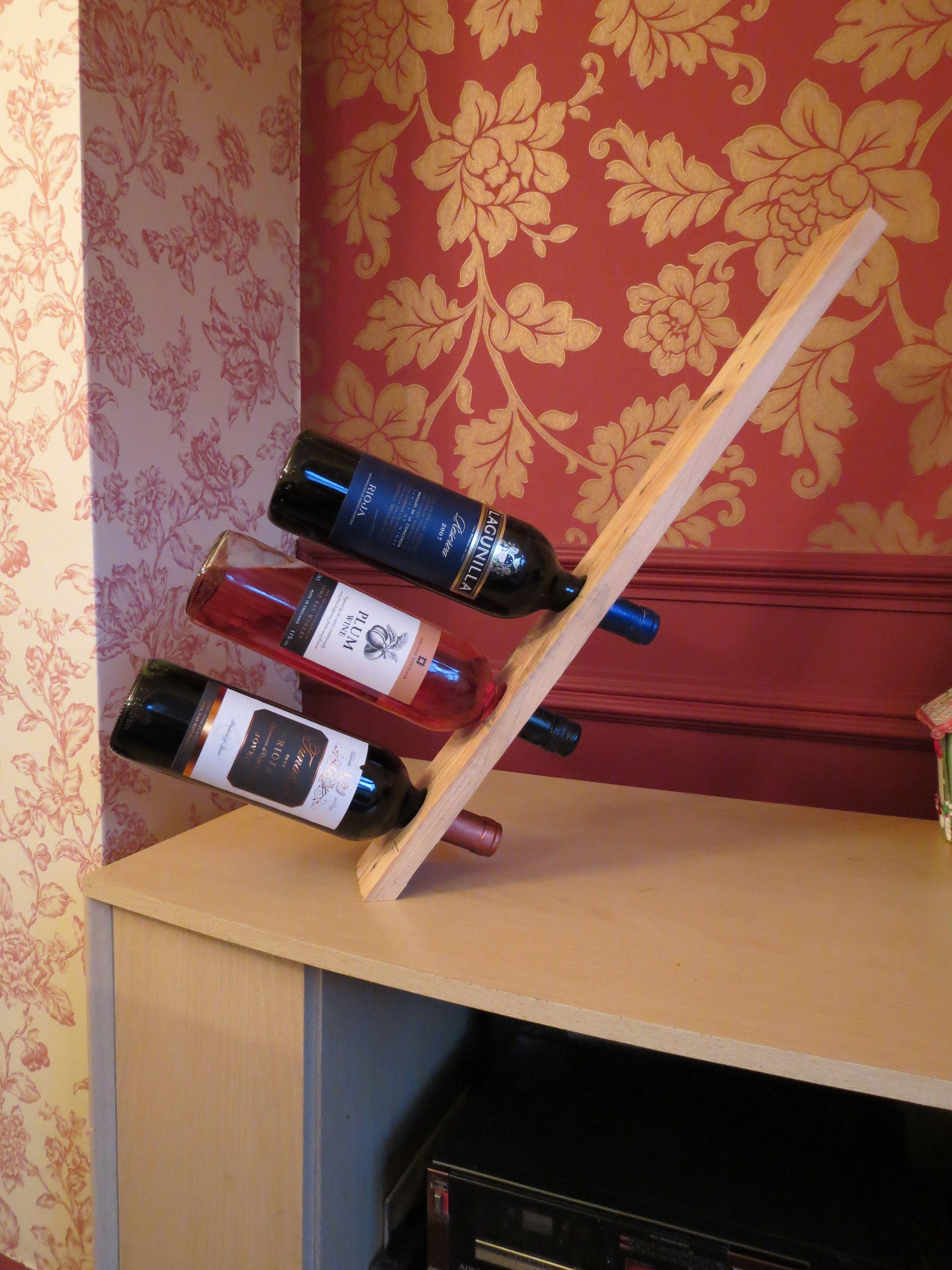 3 Bottle Balancing Wine Rack Wine Rack Wooden Wine Rack Diy Wine Rack