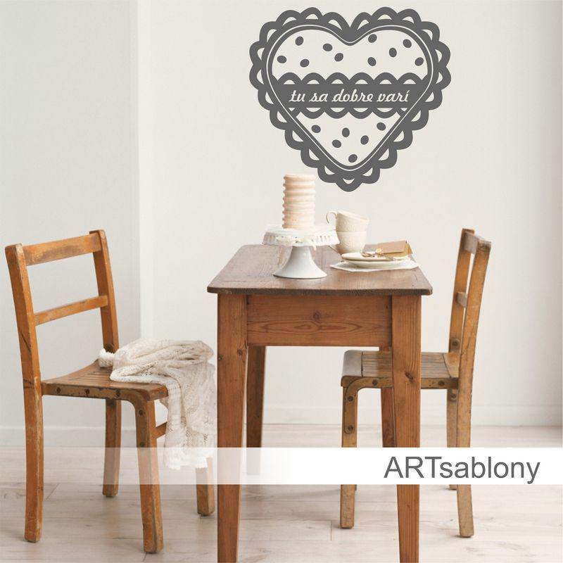 (3785n) Nálepka na stenu - Srdce vintage I | ARTSABLONY.SK