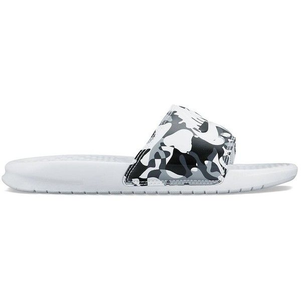0f27aebad1da Nike Benassi JDI Women s Flip-Flops ( 25) ❤ liked on Polyvore featuring  shoes