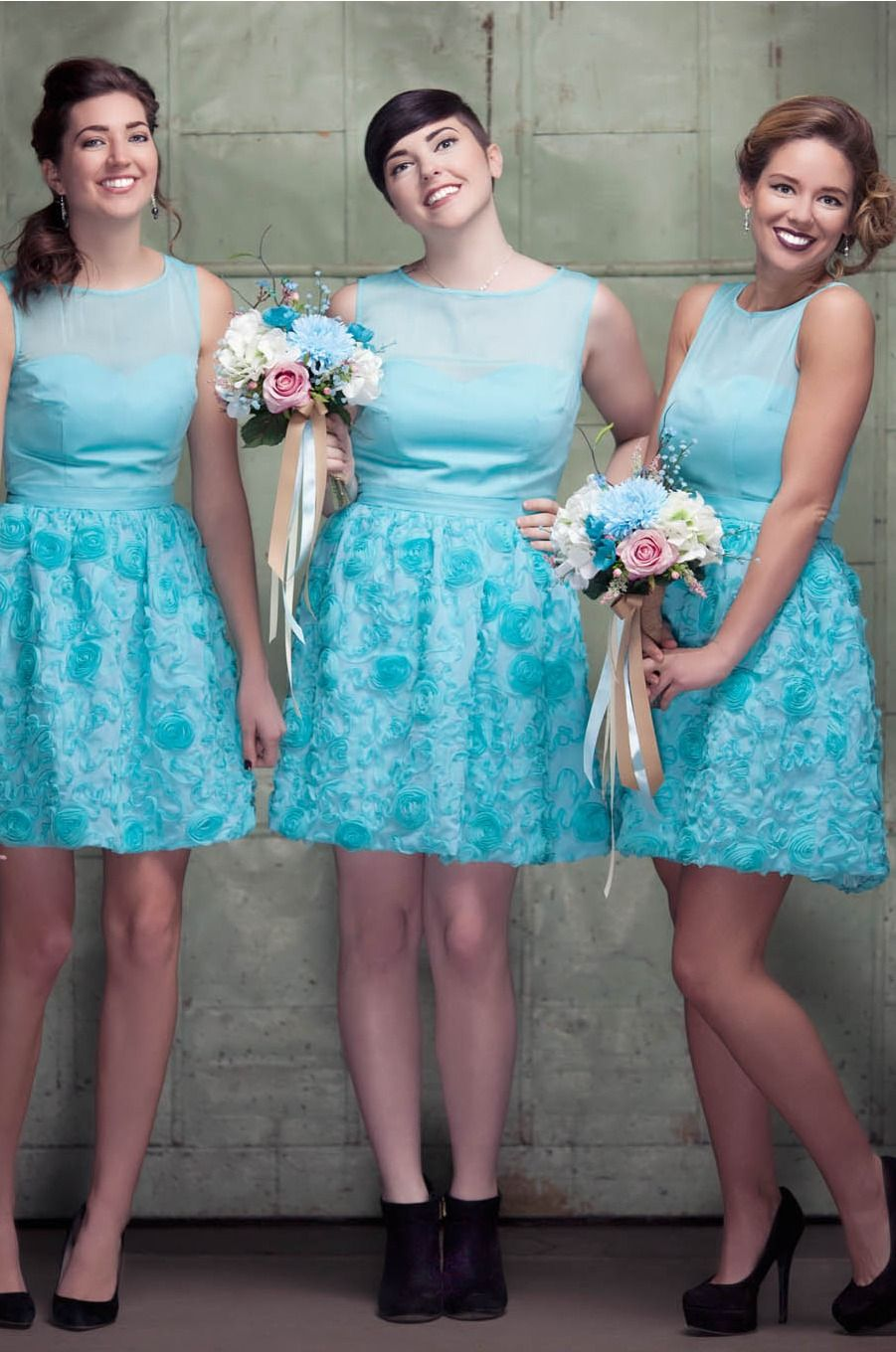 See the tutorial here for how to take a simple pattern and turn it into adorable vintage bridesmaid dresses!