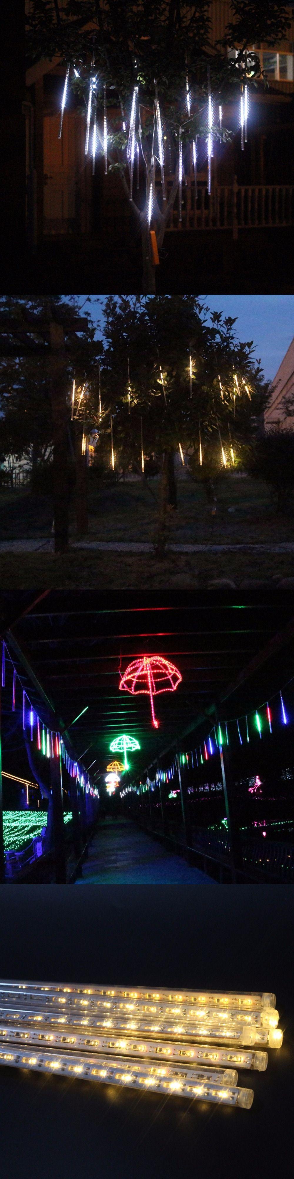 20cm led meteor rain tube christmas lights wedding holiday lighting party garden tree flasher light outdoor