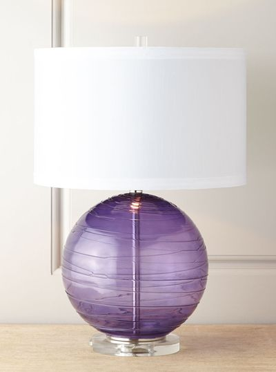 Purple Table Lamp Impressive Mouthblown Glass Table Lamp  And There Was Light  Pinterest Decorating Inspiration