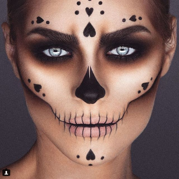 33 Simple Sugar Skull Makeup looks2018 DIY Halloween