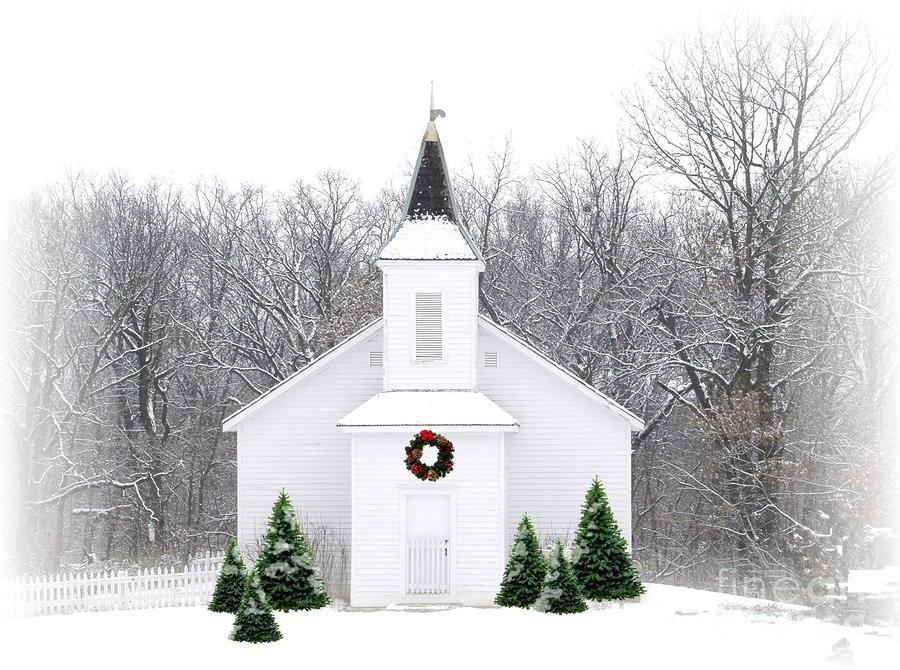 Country Christmas Church Photograph