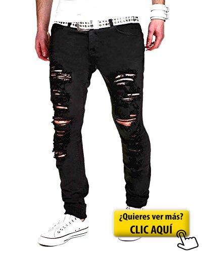 Hombres Pantalones Vaqueros Rectos Lagrimeo Pantalones Pantalones De Chandal Pantalones Vaqueros Hombre Ropa De Moda Hombre