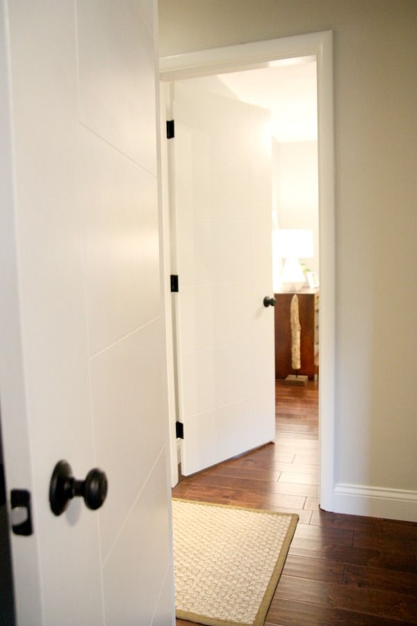 Attractive Doors With Dark Hardware, Masonite West End Berkley Style Doors For  Mid Century Home