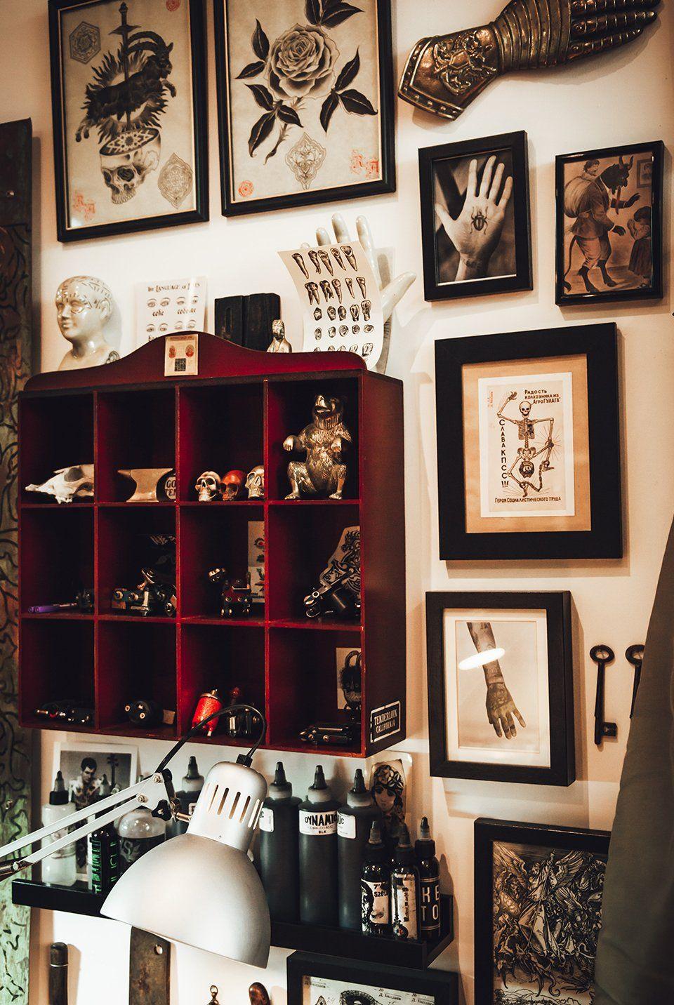Tattoo Shop Design Ideas: Decoração, Decoração De