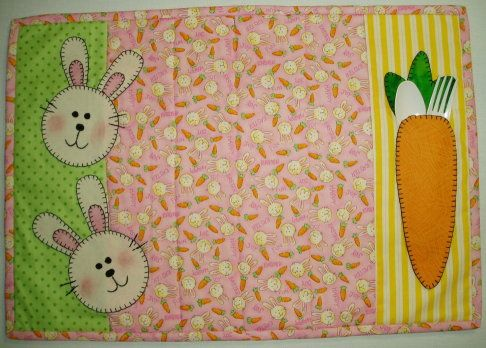 Free Pattern Easter Placemat 2 Easter Placemats Placemats Patterns Diy Placemats Fabric