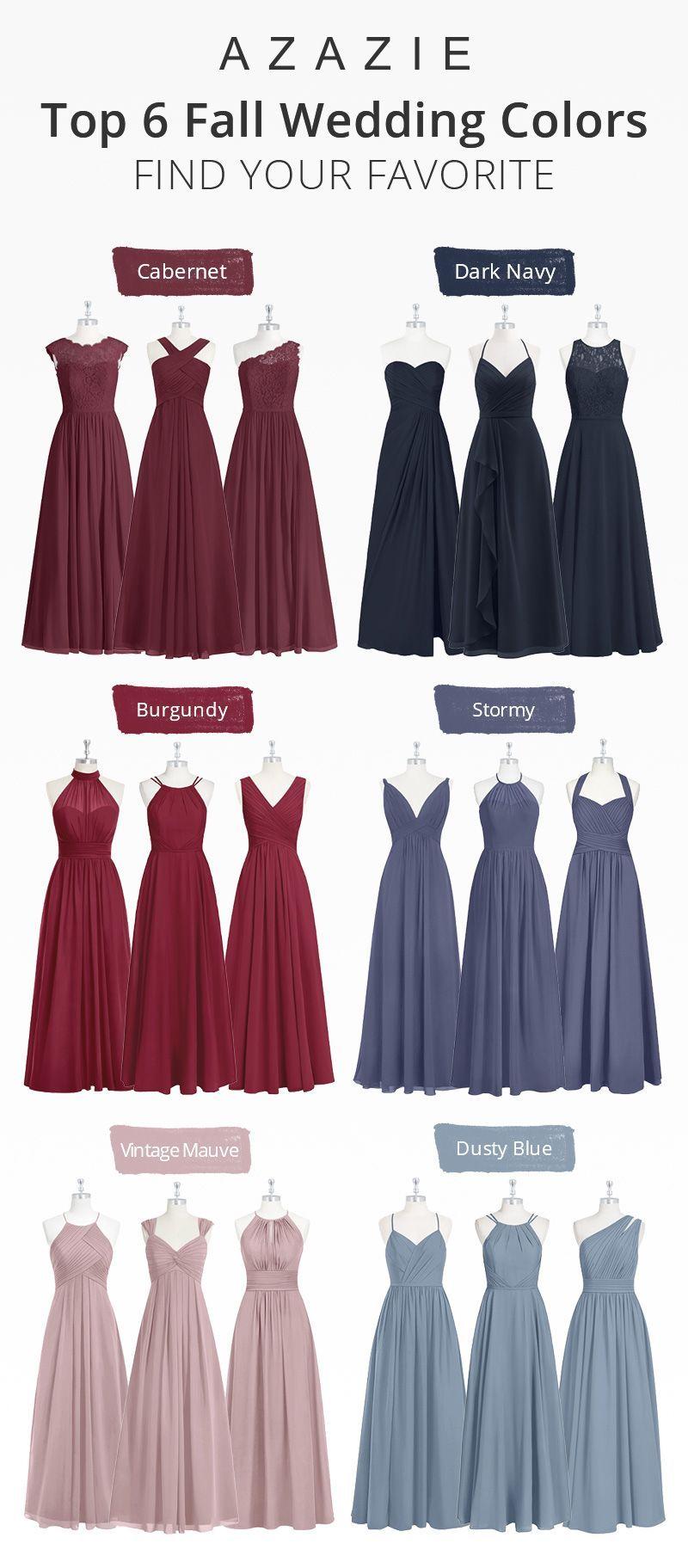 Top 6 Fall Wedding Colors Fall Bridesmaid Dresses Mauve Bridesmaid Dress Stormy Bridesmaid Dresses [ 1823 x 800 Pixel ]