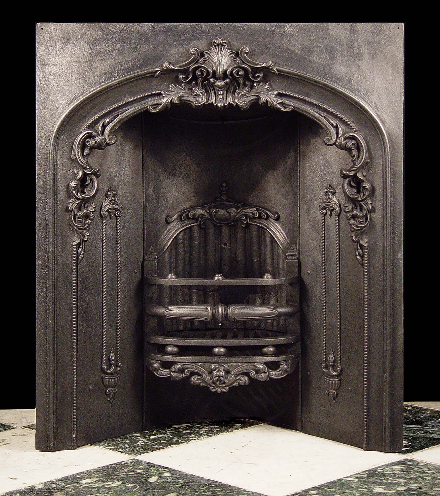 Antique Vintage Bedroom Fireplace: Something Like This For The Corner Fireplace In The Living Room. -- Antique Victorian Cast Iron