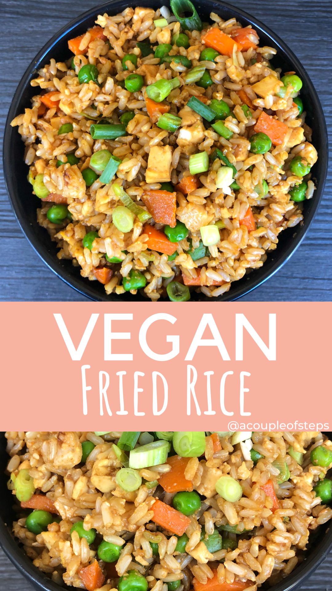 Healthy Vegan Fried Rice Recipe - A Couple Of Steps