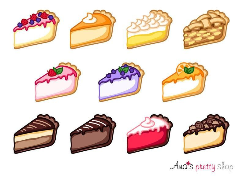 Cheesecake Clipart Pie Clipart Traditional Cheesecake Apple Etsy In 2021 Cake Clipart Cute Food Drawings Cake Drawing