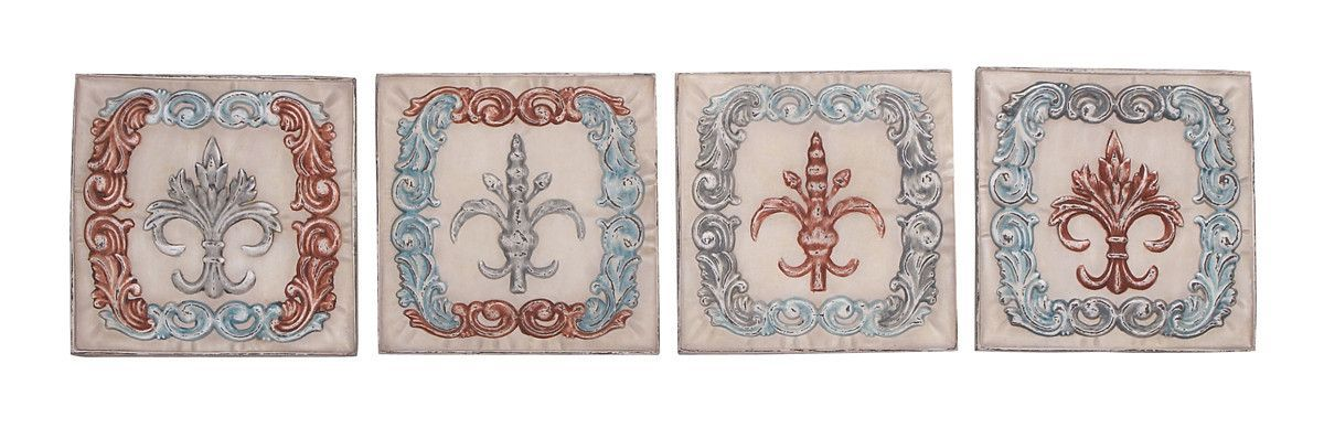 French Country Wall Plaques Set of 4