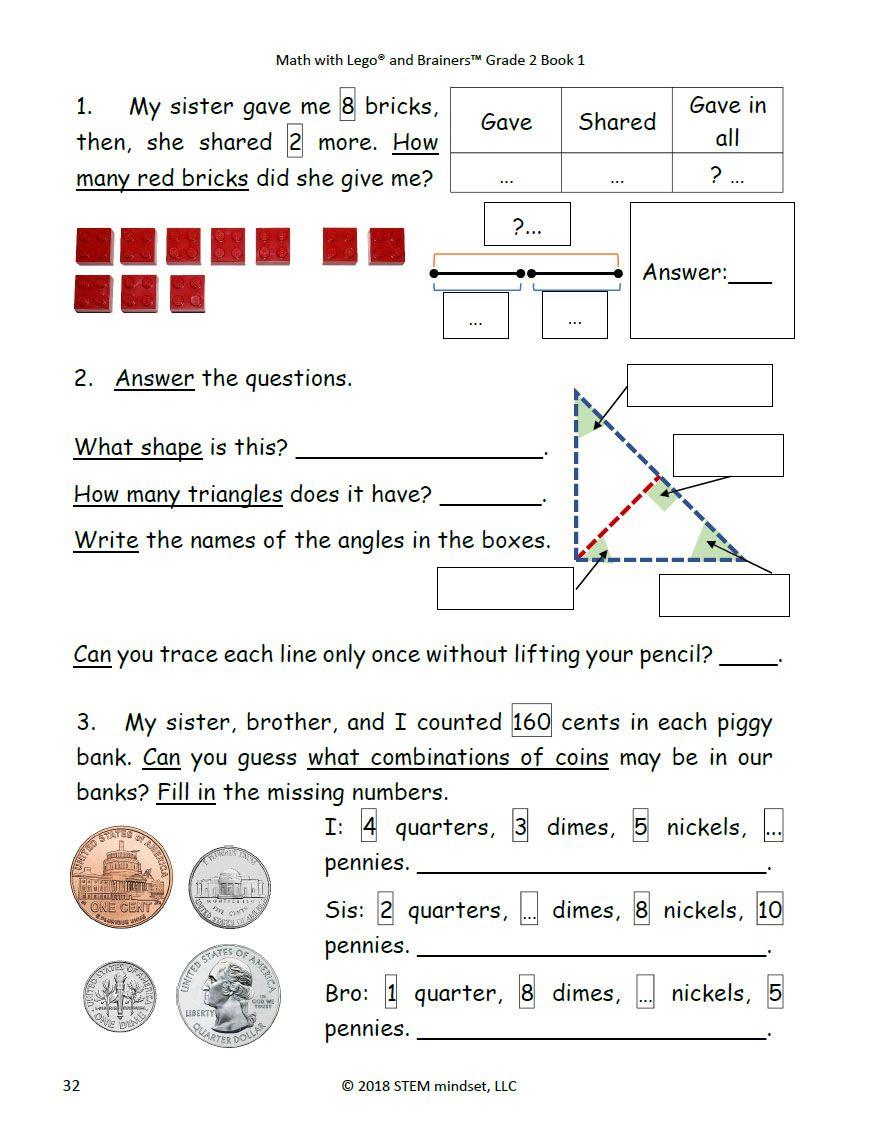 Common Core Math Full Curriculum Workbooks Grade 2 Book 1