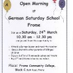 Like to know what we do at the German Saturday School in Frome ? Come to our open morning!: http://twitpic.com/8wzc2y