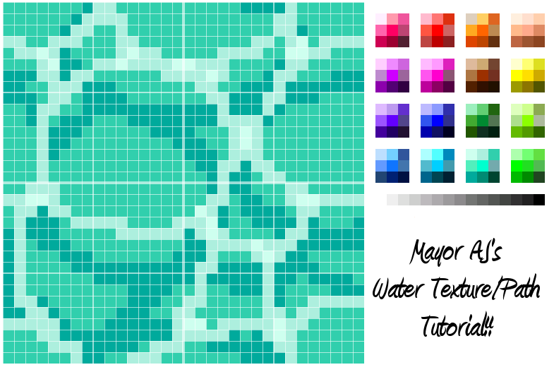 ACNLWater texture tutorial 1 Animal Crossing
