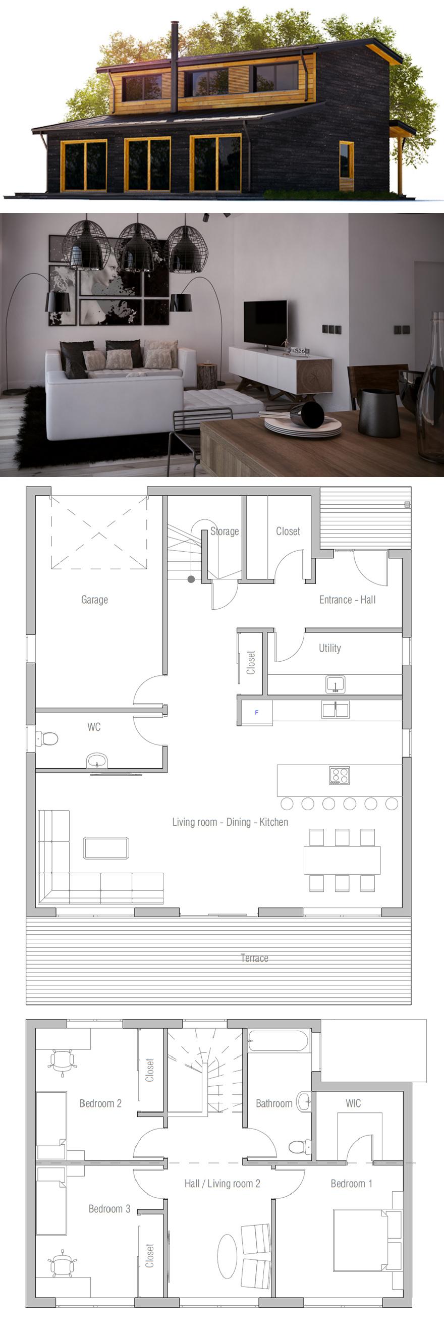 Haus Grundrisse · Moderne Häuser · Hausplan
