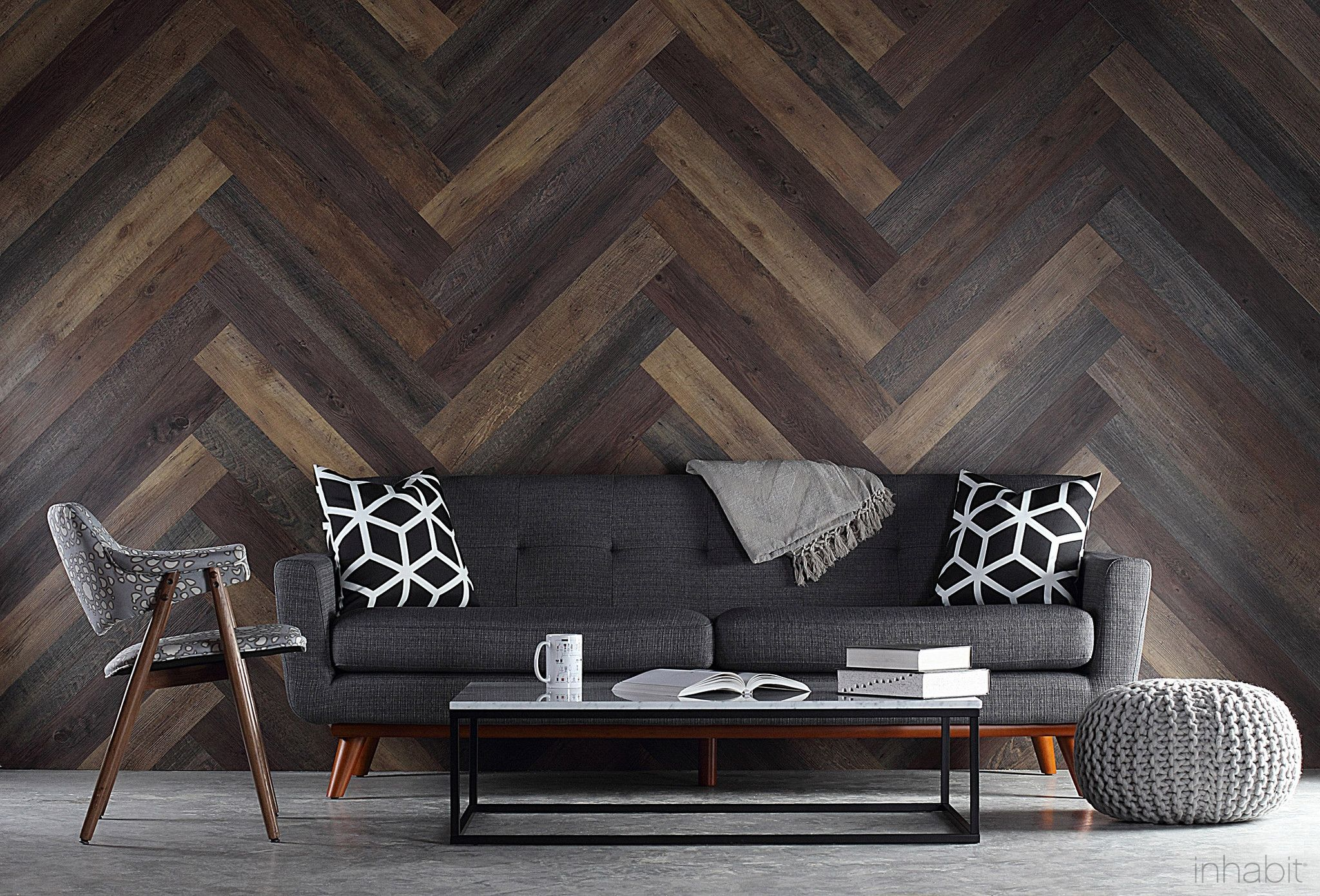 pallet wood look peel and stick wall planks pallet wood walls pallet wood and wood walls. Black Bedroom Furniture Sets. Home Design Ideas