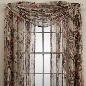 Sheer Floral Window Scarf Ideas Pretty Window Scarf Ideas In