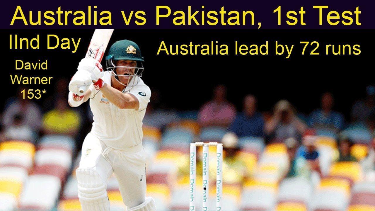 Australia Vs Pakistan 1st Test Live Cricket Score Australia Lead B Cricket Score Live Cricket Cricket