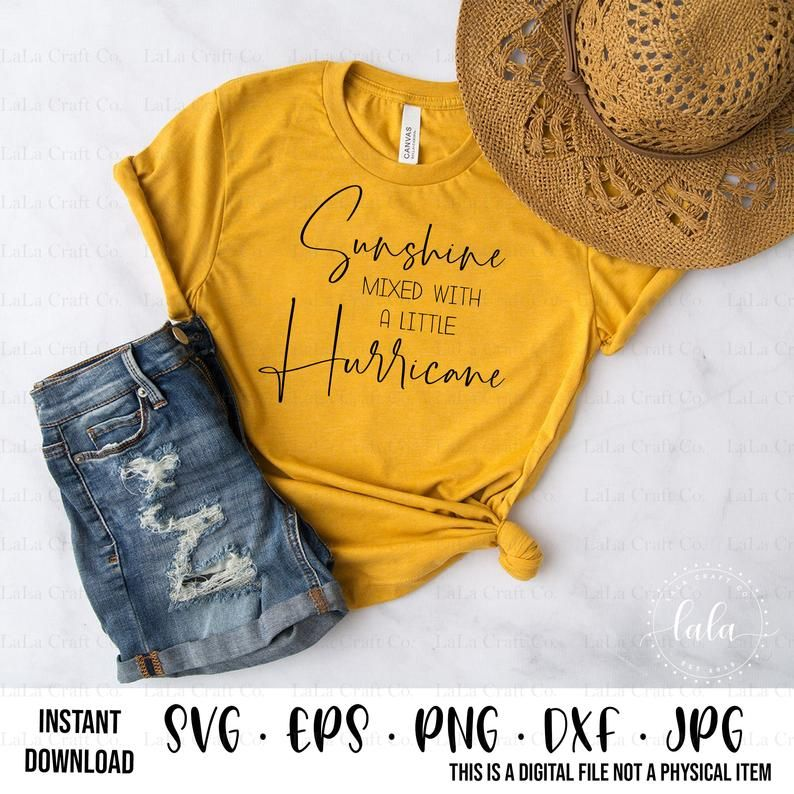 Sunshine Mixed With A Little Hurricane SVG-Digital | Etsy