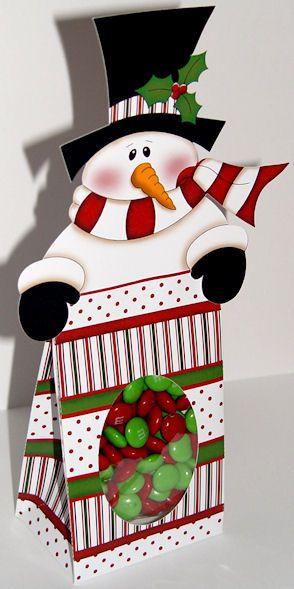 snowman topper and treat bag celebrating christ 39 s birth. Black Bedroom Furniture Sets. Home Design Ideas