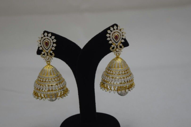 Diamond Bridal Wear Detachable Jhoomki  A Collection From Totaram&Sons Jewellers