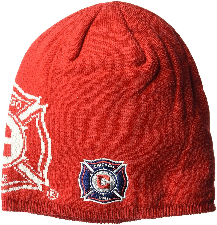 ce30e646deb Chicago Fire MLS Men s Glow in The Dark Knit Beanie