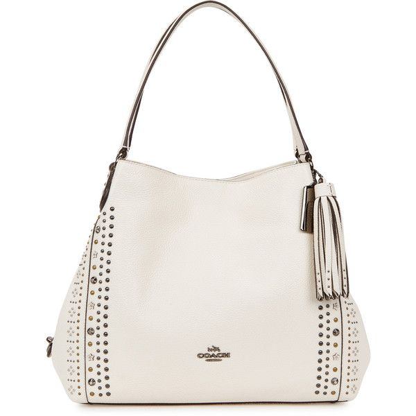 Coach New York Edie 31 cream stud-embellished leather tote ( 525) ❤ liked  on Polyvore featuring bags 680e8fd52ffb0