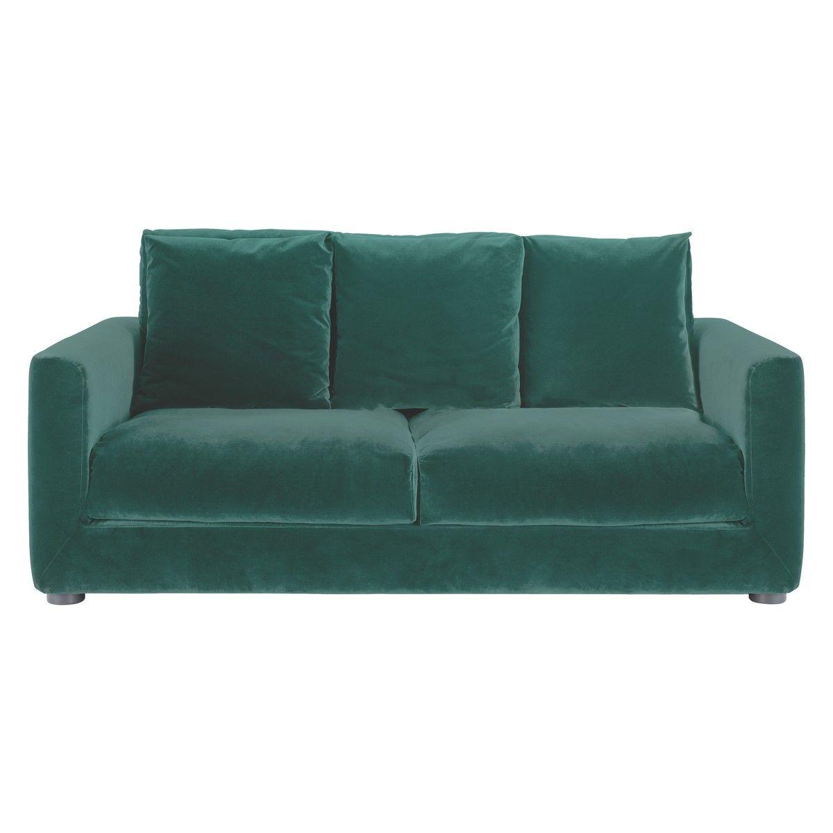 Rupert Emerald Green Velvet 2 Seater Sofa Bed