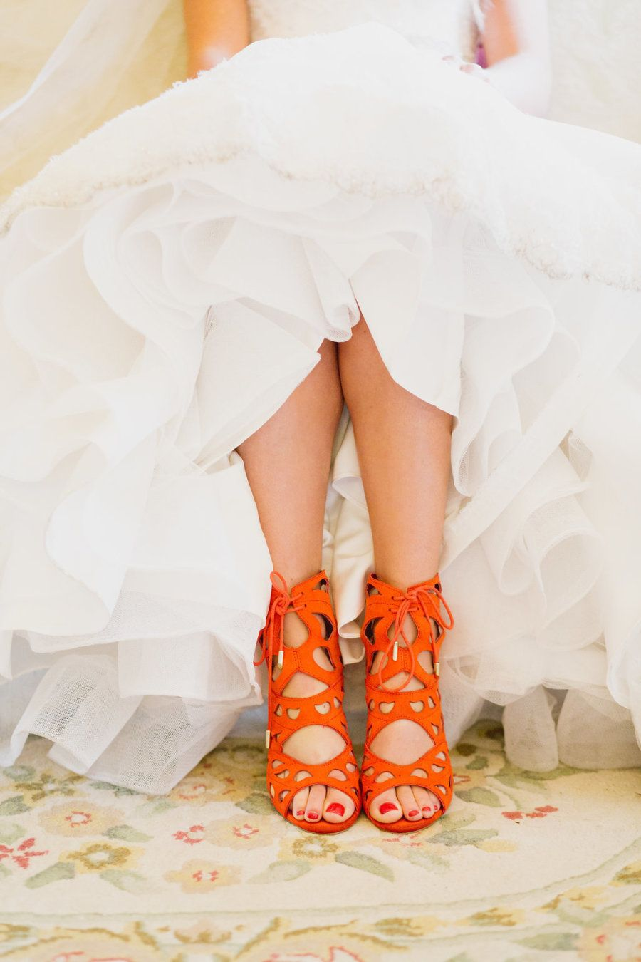 81d133ef30856 Bright orange lace-up sandals  Photography   Whitney Krutzfeldt Read More  on SMP